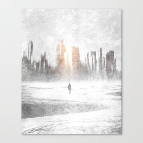 Grey hope Canvas Print