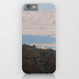 Masada to the Dead Sea iPhone Case