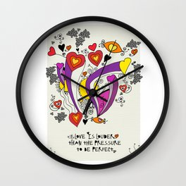 Love is louder Wall Clock