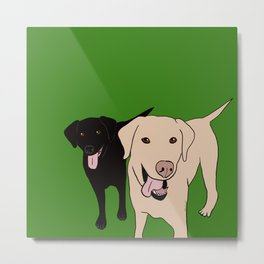 Tanner and Lily Best Labrador Buddies Metal Print