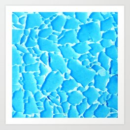 Broken Pieces of Ocean Water in Blue Art Print