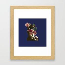 flowers in my head Framed Art Print