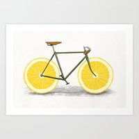 lemon Art Prints featuring Zest by Florent Bodart / Speakerine