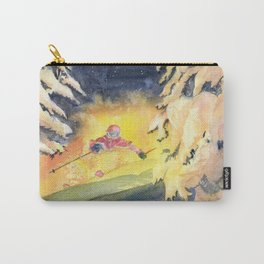 Skiing Art Carry-All Pouch
