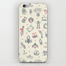 GUITAR AND BOAT PATTERN iPhone & iPod Skin