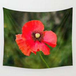 Red Poppy Wall Tapestry