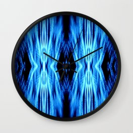 Electric Blue Abstract Wall Clock