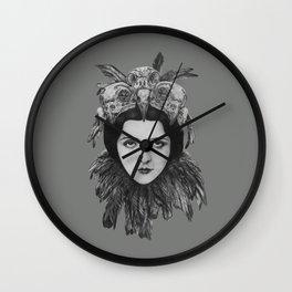 Lady Bird Skull Wall Clock