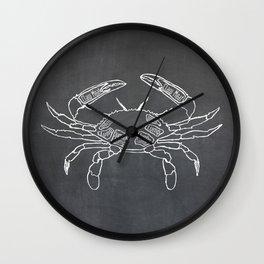 Crab Butcher Diagram (Seafood Meat Chart) Wall Clock