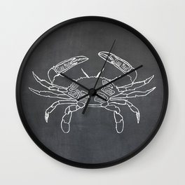 Crab Butcher Diagram (Seafood Meat Chart) Wall Clock