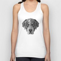 rottweiler Tank Tops featuring Ornate Rottweiler by Adrian Dominguez