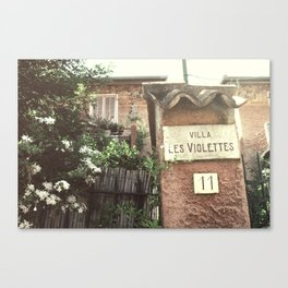 Villa Les Violettes Canvas Print