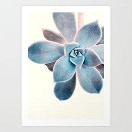 blue plant Art Print