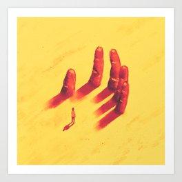 long fingers Art Print