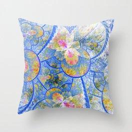Water Lily Haze Throw Pillow