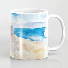 Ajaccio Corsica France - Beach and Fortress Coffee Mug