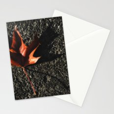red leaf. Stationery Cards