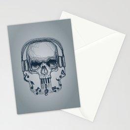 Skull Music Line Stationery Cards