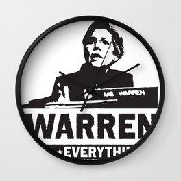 Elizabeth Warren for EVERYTHING Wall Clock