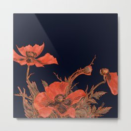 All the Poppies of the Fields Metal Print