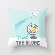 Travel the Globe Throw Pillow