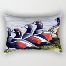 Harlequinn Ducks of LBI Rectangular Pillow