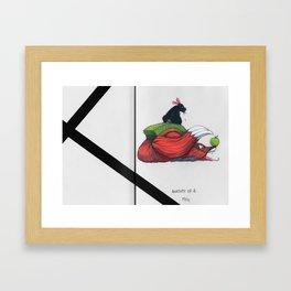 Reynard the Fox // (Anatomy of a you know what) Framed Art Print