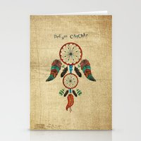 dream catcher Stationery Cards featuring DREAM CATCHER by Heaven7