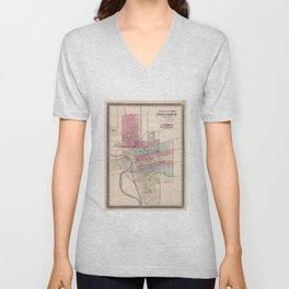 Vintage Map of Columbus Ohio (1868) Unisex V-Neck