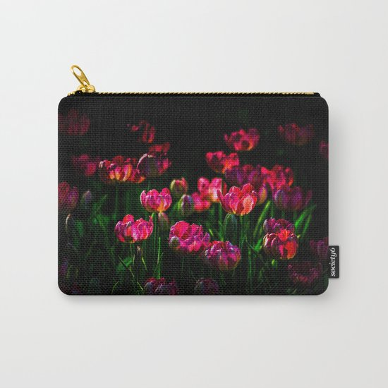 Pink tulip flowers Carry-All Pouch