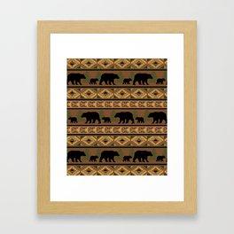 Black Bear and Cub Framed Art Print