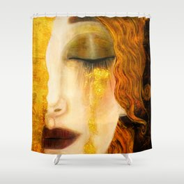 Freya's Golden Tears Viking Lore Shower Curtain