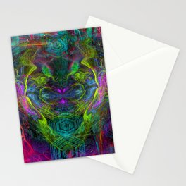 Rocket Man (abstract, psychedelic) Stationery Cards