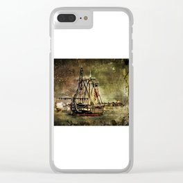 Tall ship USS Constitution Clear iPhone Case