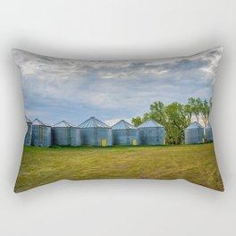 Grain Bins 3 Rectangular Pillow