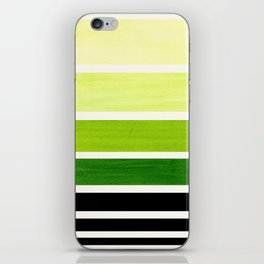 Sap Green Minimalist Mid Century Modern Color Fields Ombre Watercolor Staggered Squares iPhone Skin