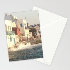 Mykonos sunset Stationery Cards