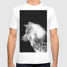 Winter Wolf Mens Fitted Tee MEDIUM White