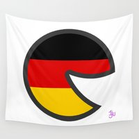 germany Wall Tapestries featuring Germany Smile by onejyoo