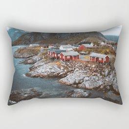 Hamnoy Village Rectangular Pillow
