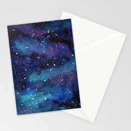 Galaxy Space Painting Stars Cosmic Universe Nebula Art Stationery Cards