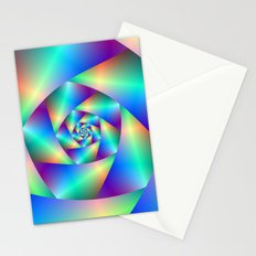 Spiral in Blue and Purple Stationery Cards