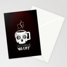 No Coffee No Life Stationery Cards