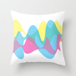 CMYK curves Throw Pillow