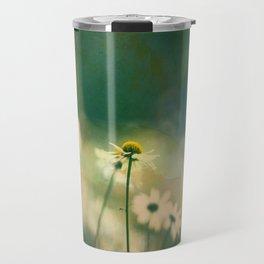 He Loves Me, Daisies Wildflowers Travel Mug