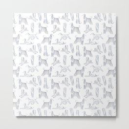 Afghan Hounds Pattern Metal Print
