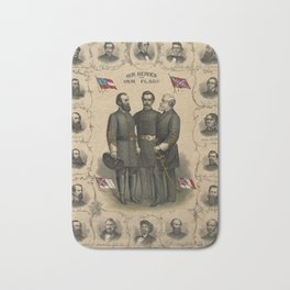 Four versions of the Flags of the Confederacy Bath Mat