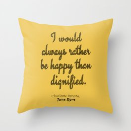 Rather Be Happy Throw Pillow