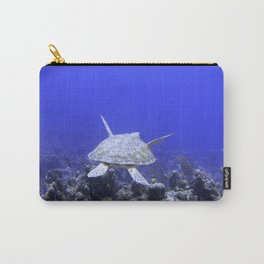 Green Turtle Swimming Carry-All Pouch