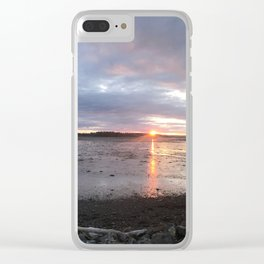 Panoramic Sunset on the Cove Clear iPhone Case
